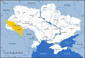 Карта Гуцульщини 20 ст.