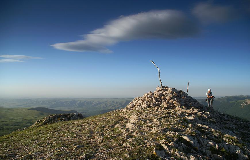 Вершина г.Ангар-Бурун - 1453 м над р.м.