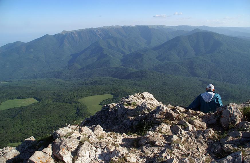 На вершині Еклізі-Бурун (1545 м над р.м.)