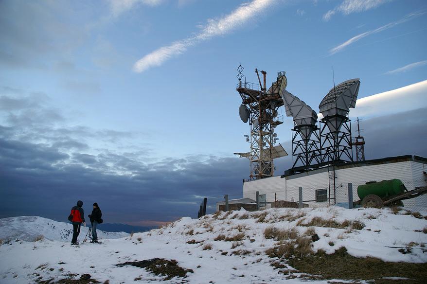 """Радіорелейна дільниця №15 ВАТ """"Укртелеком"""" на вершині гори Плай - 1330 м над р.м."""