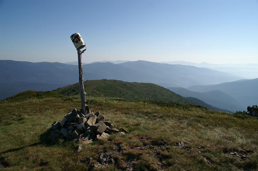 На вершині гори Татарука - 1707 м над р.м.