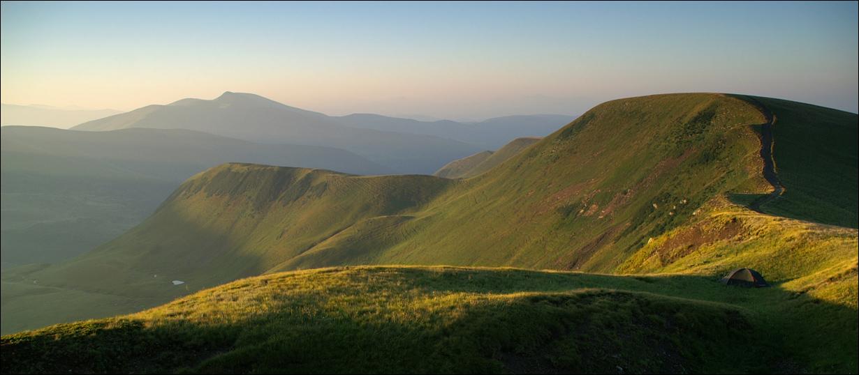 Ранок. Біля вершини Догяски - 1700 м над р.м.