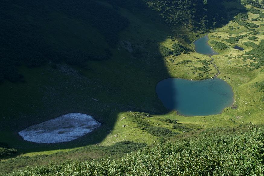 Озеро Ворожеска - 1460 м над р.м.
