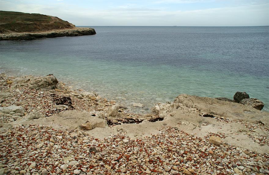 Пляж на території Херсонесу
