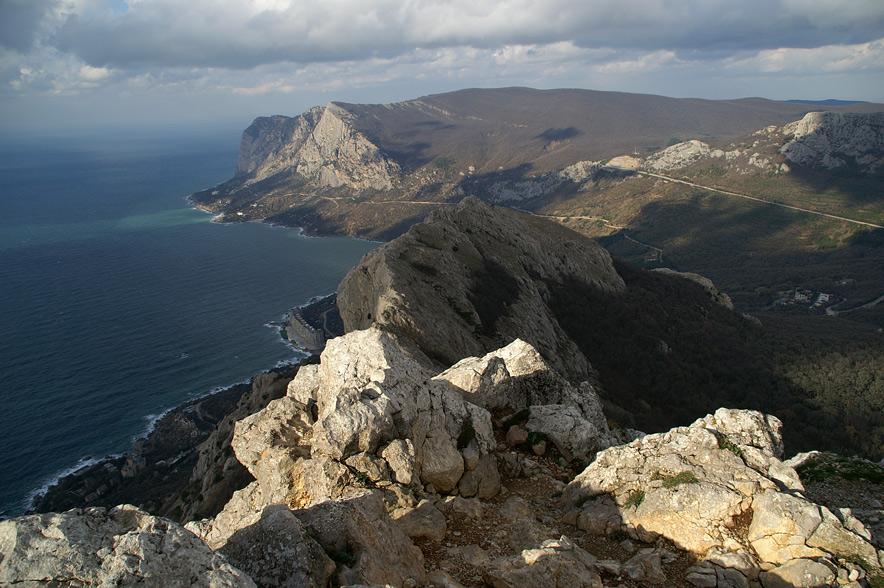Вид з вершини гори Ильяс-Кая (682 м над р.м.)