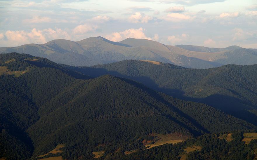 Вид з гори Волосянка