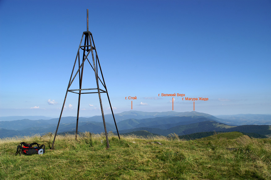 На вершині гори Кук - 1361 м над р.м.