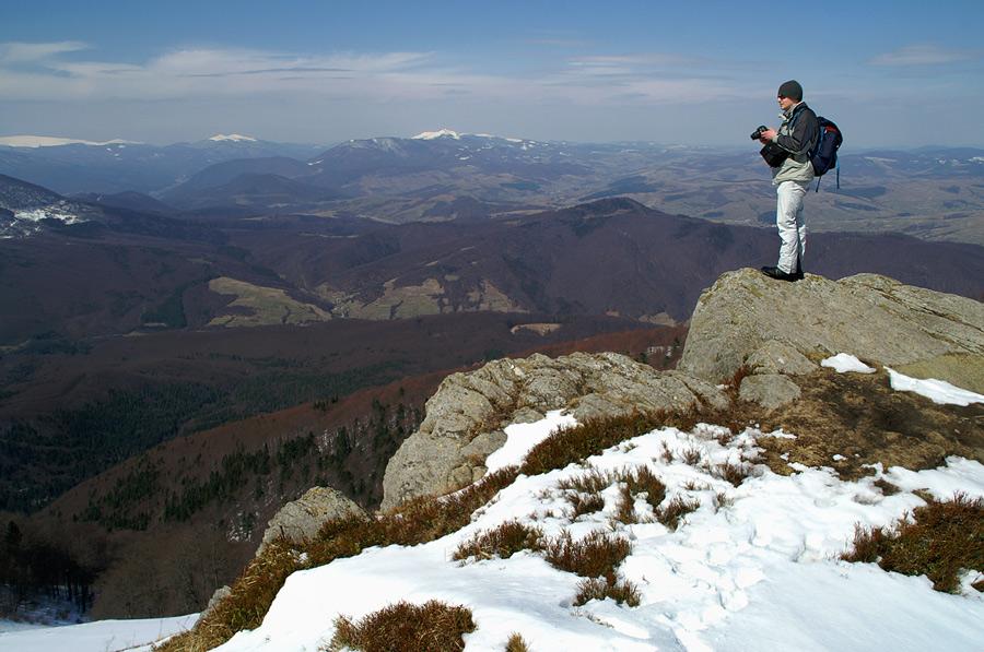 На вершині гори Темнатик - 1343 м над р.м.