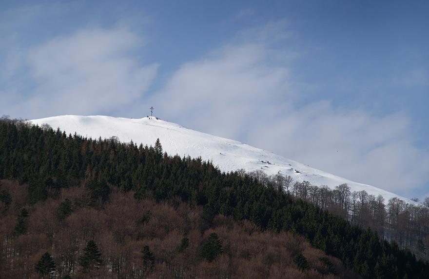 Вершина гори Православний Хрест - 1215 м над р.м.