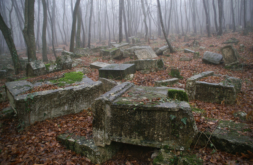 Приблизно 4 гектари лісу всіяні тисячами надгробків, висічених переважно з вапняку