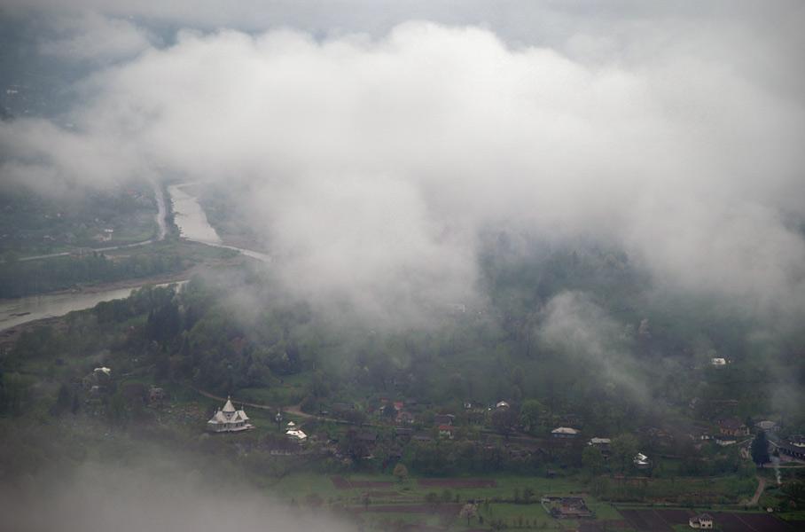 Вид на село Розтоки з хутору Затинь