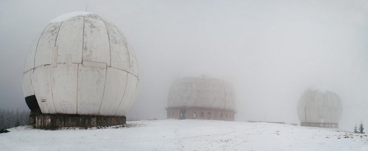 """Залишки РЛС """"Памір"""" на вершині гори Темнатик - 1565 м над р.м."""