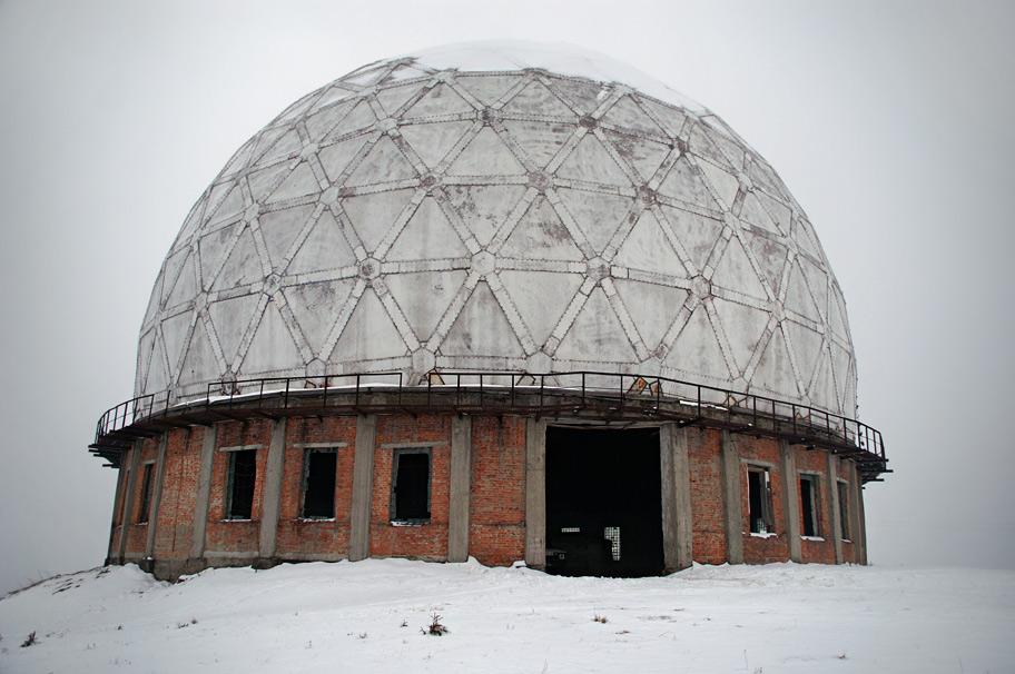 """Радіопрозорий купол для РЛС """"П-14 Лена"""" метрового діапазону хвиль"""