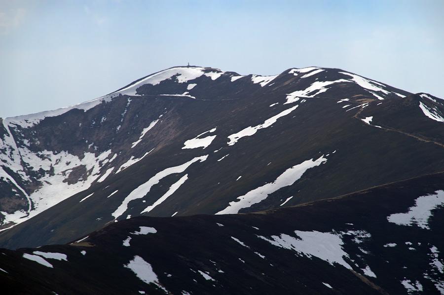 Вид на гору Стой (1681 м) с Великого Верха (1598 м)