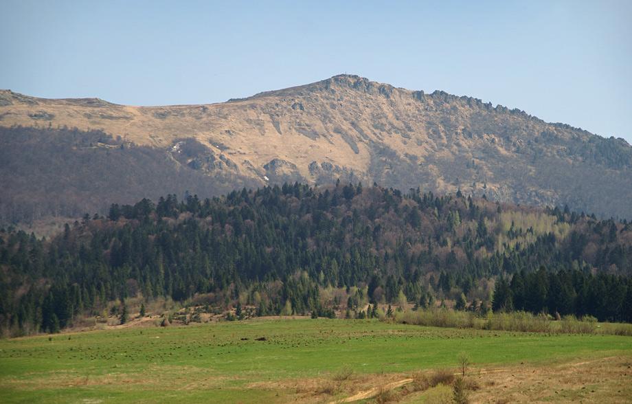 Хребет Водораздельного хребта с вершиной Пикуй - 1408 м