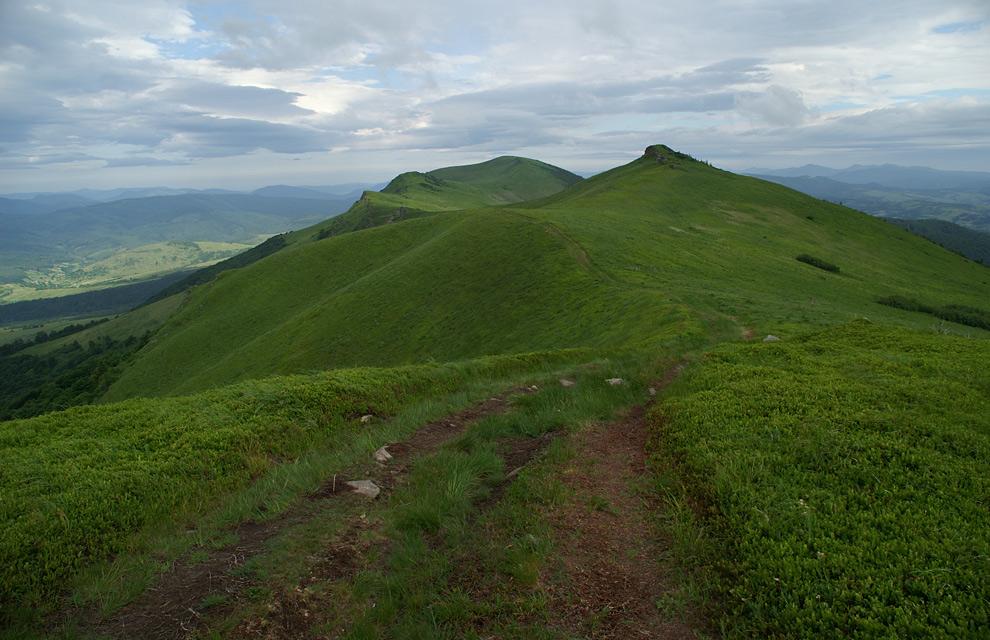Вид на Великий Верх - 1309 м над р.м.