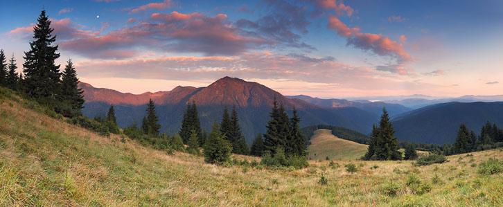 Мармароський масив. Вид на гору Петрос Мармароський (1781 м) з урочища Маслокрут