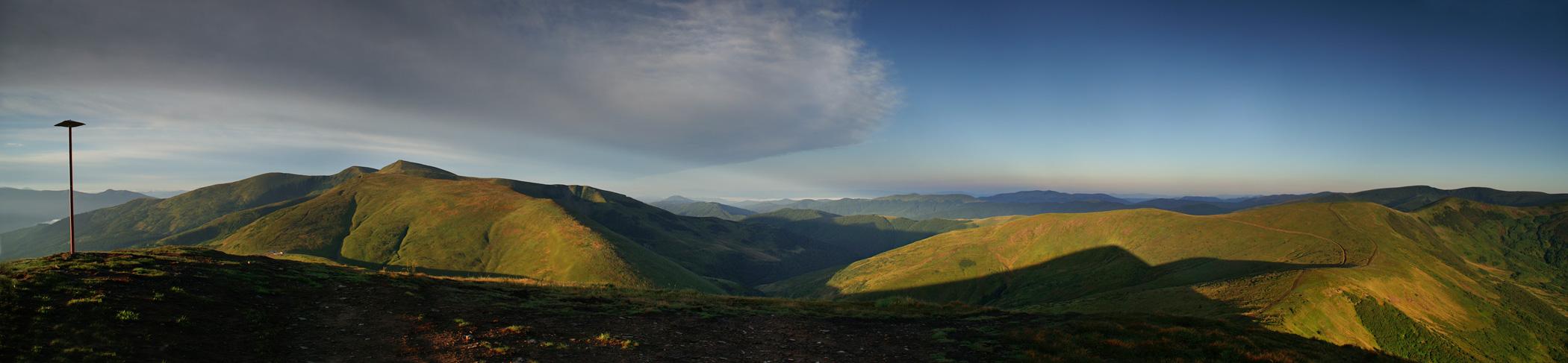 Свидовецький масив. Вид з гори Стіг - 1704 м над р.м.