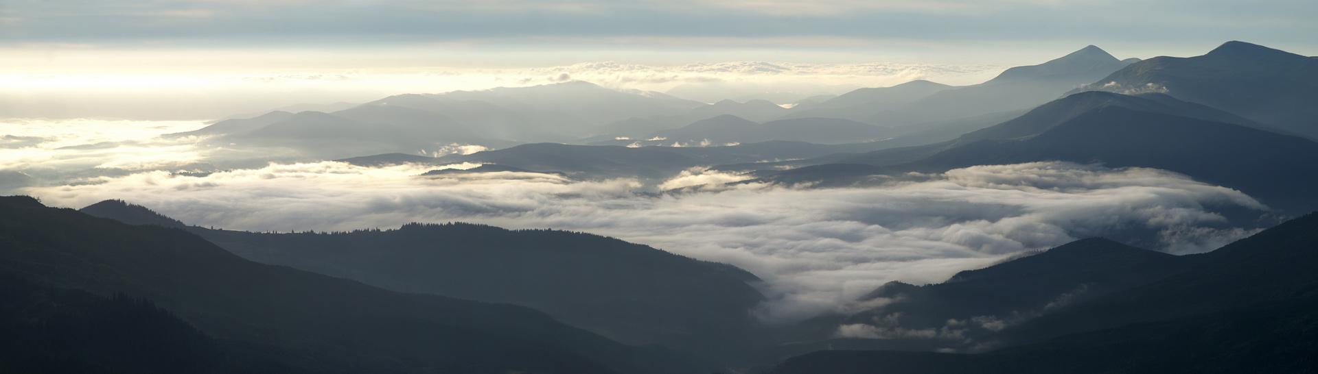 Драгобрат. Вид з гори Стіг - 1704 мн ад р.м.