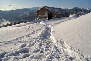 Зима на полонині Погарській