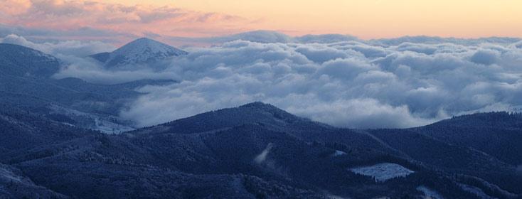 Вид на гору Хомяк з полонини Погарський
