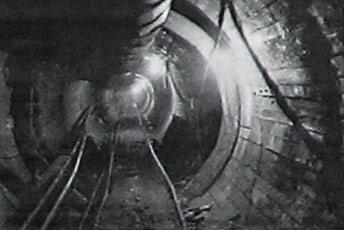 Будівництво тунелю. Червень 1955 року