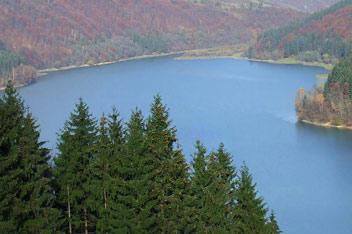 Вільшанське водосховище з Бовцарського Верху