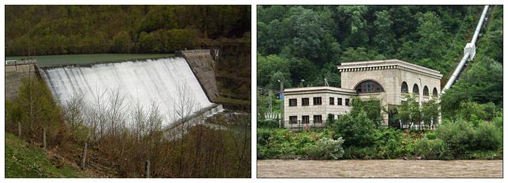 Теребле-Ріцька ГЕС та гребля на водосховищі у Вільшанах