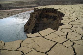 Замулювання дна водосховища