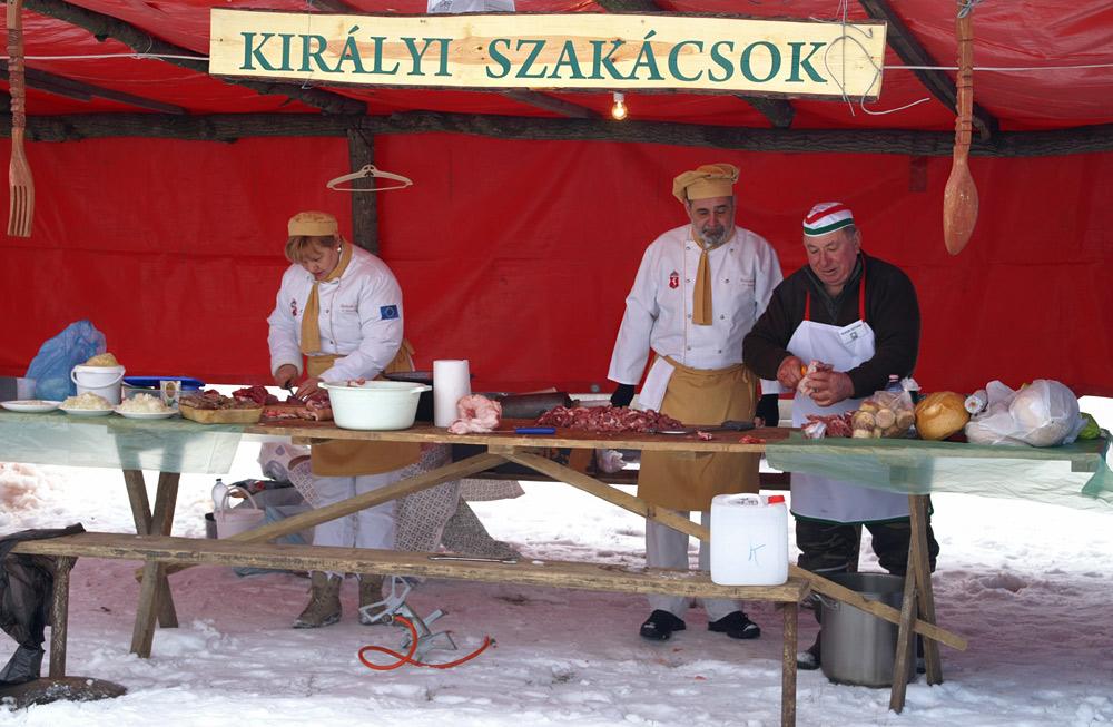 Фестиваль гентешів - різників свиней в с. Геча (2012)