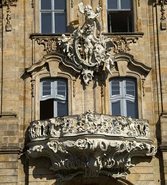 Елементи міської ратуші в стилі рококо і бароко (м. Бамберг)