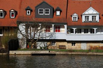 """""""Маленька Венеція"""" в місті Бамберг на річці Regnitz - колшнє поселення рибалок"""