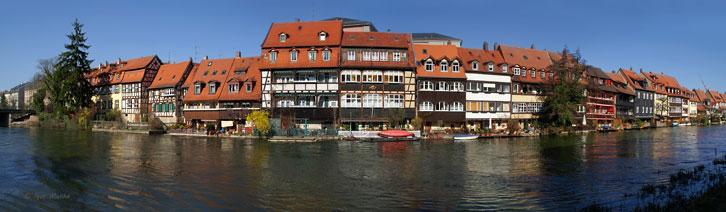 """""""Маленька Венеція"""" - місто Бамберг на річці Регніц (Баварія)"""