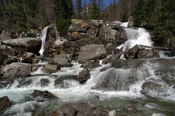 Водоспади Студеного Потоку - 1246 м над р.м. у Високих Татрах