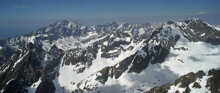 Високі Татри, вид з висоти 2634 м над р.м.