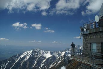 На вершині гори Lomnicky Stit - 2634 m